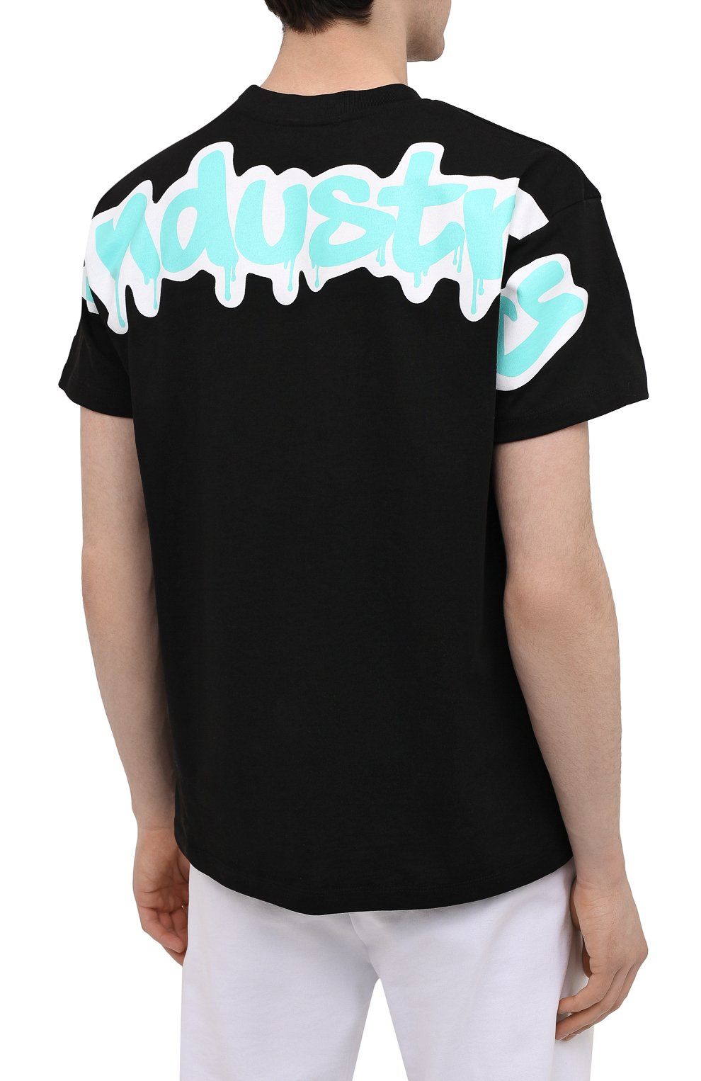 Мужская хлопковая футболка PHARMACY INDUSTRY черного цвета, арт. PHM224 | Фото 4