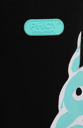 Мужские хлопковые джоггеры PHARMACY INDUSTRY черного цвета, арт. PHM225 | Фото 5