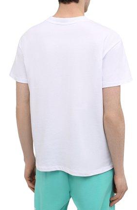 Мужская хлопковая футболка PHARMACY INDUSTRY белого цвета, арт. PHM227   Фото 4