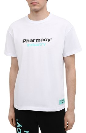 Мужская хлопковая футболка PHARMACY INDUSTRY белого цвета, арт. PHM235 | Фото 3