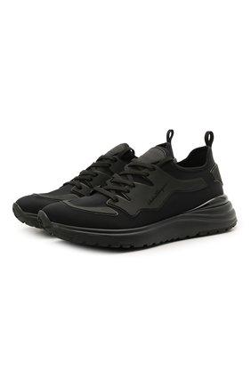 Мужские кроссовки SALVATORE FERRAGAMO черного цвета, арт. Z-07421753E | Фото 1