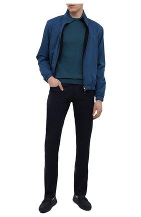 Мужские кожаные мокасины SALVATORE FERRAGAMO темно-синего цвета, арт. Z-07324813E | Фото 2