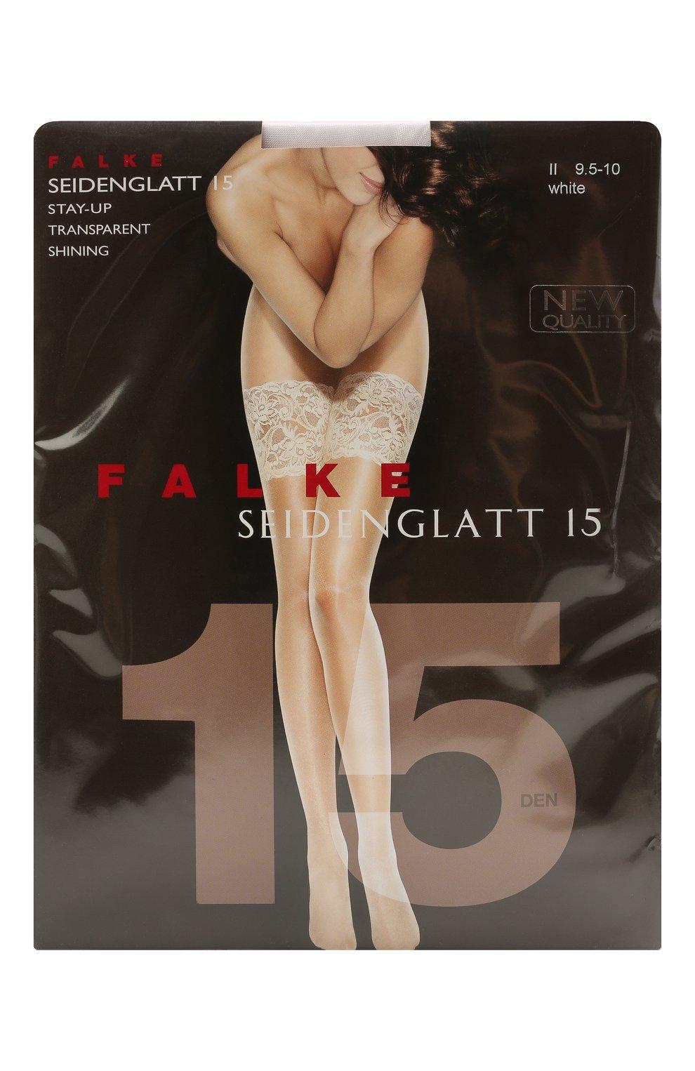 Женские чулки seidenglatt 15 FALKE белого цвета, арт. 41590 | Фото 1