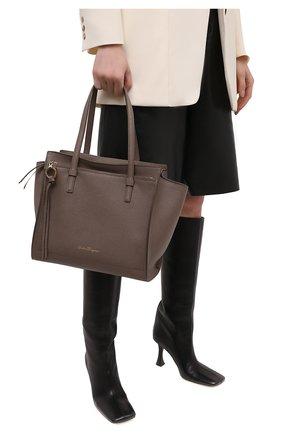 Женский сумка-тоут SALVATORE FERRAGAMO светло-коричневого цвета, арт. Z-0741024 | Фото 2
