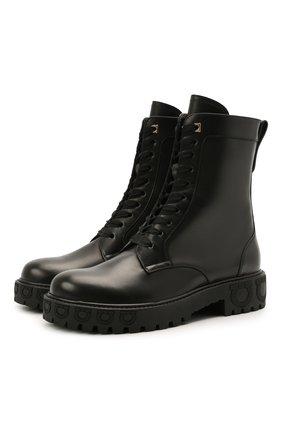 Женские кожаные ботинки SALVATORE FERRAGAMO черного цвета, арт. Z-07413391C | Фото 1