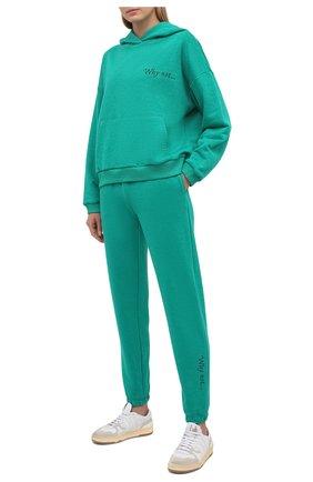 Женский хлопковый костюм SEVEN LAB зеленого цвета, арт. HP20-WN emerald   Фото 1