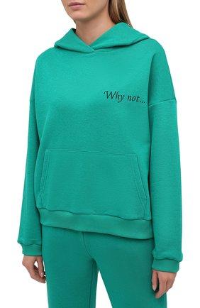 Женский хлопковый костюм SEVEN LAB зеленого цвета, арт. HP20-WN emerald   Фото 2