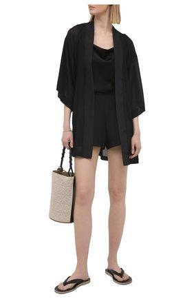 Женский халат SHAN черного цвета, арт. 52072-85 | Фото 2