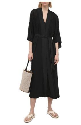 Женский халат SHAN черного цвета, арт. 52072-86 | Фото 2