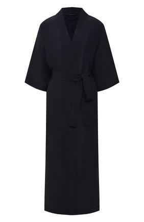 Женский шелковый халат SHAN темно-синего цвета, арт. 42121-86 | Фото 1
