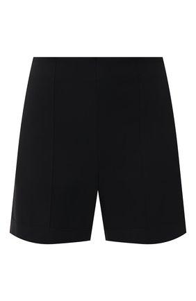 Женские шорты SHAN черного цвета, арт. 52066-54 | Фото 1 (Материал внешний: Синтетический материал; Женское Кросс-КТ: Шорты-одежда, Шорты-пляжная одежда; Длина Ж (юбки, платья, шорты): Мини; Стили: Кэжуэл)