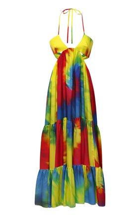 Женское шелковое платье ALEXANDRE VAUTHIER разноцветного цвета, арт. 211DR1433 1413-211 | Фото 1