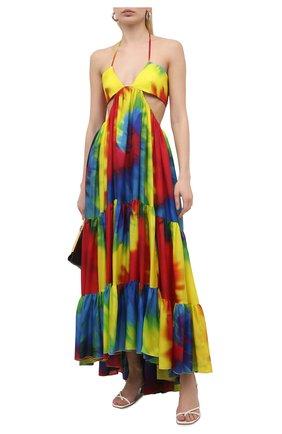 Женское шелковое платье ALEXANDRE VAUTHIER разноцветного цвета, арт. 211DR1433 1413-211 | Фото 2