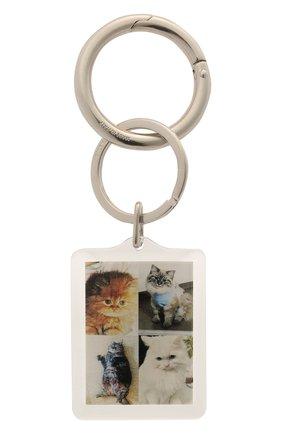 Женский брелок для ключей pets BALENCIAGA серебряного цвета, арт. 644167/TZ36S | Фото 1