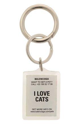 Женский брелок для ключей pets BALENCIAGA серебряного цвета, арт. 644167/TZ36S | Фото 2