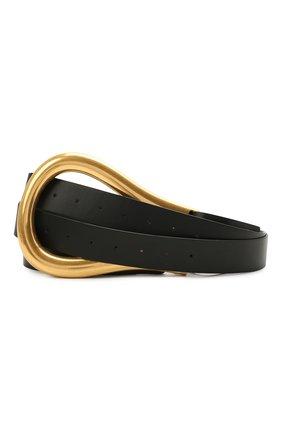 Женский кожаный ремень BOTTEGA VENETA черного цвета, арт. 577041/VMAU1 | Фото 1 (Материал: Кожа)
