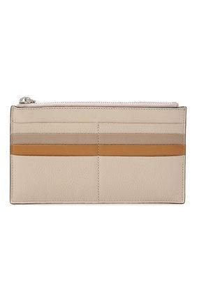 Женский кожаный футляр для кредитный карт COCCINELLE бежевого цвета, арт. E5 HV1 19 D1 16 | Фото 1