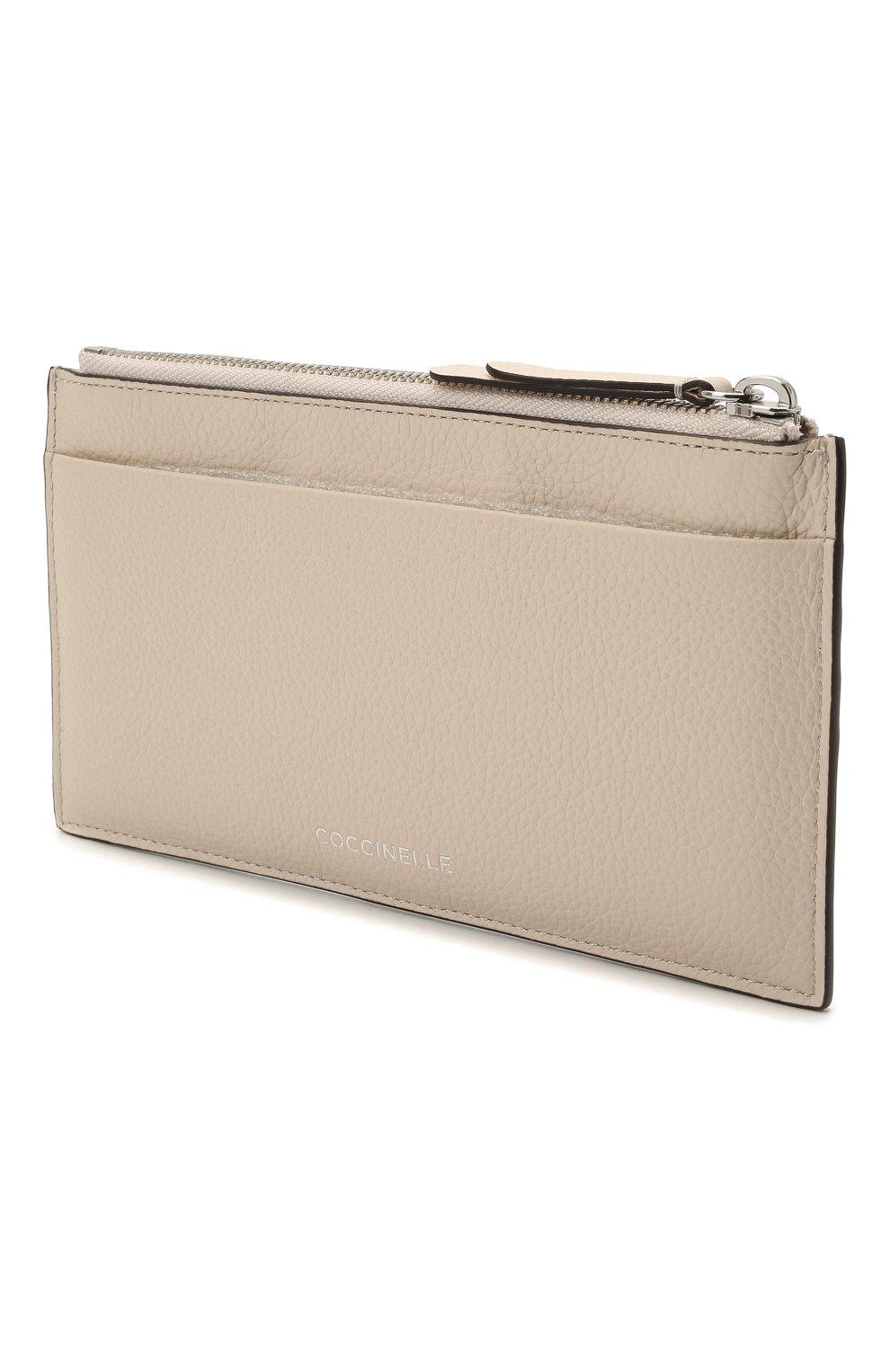 Женский кожаный футляр для кредитный карт COCCINELLE бежевого цвета, арт. E5 HV1 19 D1 16 | Фото 2
