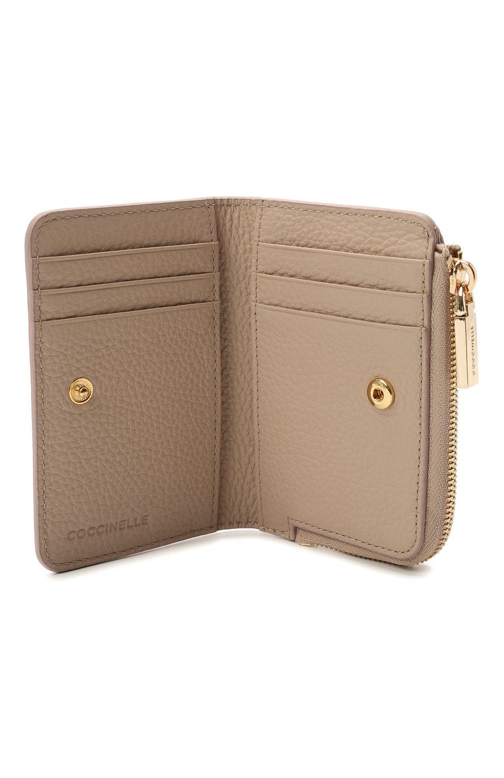 Женские кожаный кошелек COCCINELLE светло-розового цвета, арт. E2 HW5 17 01 01 | Фото 3