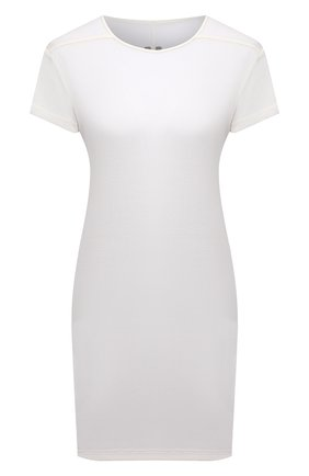 Женская футболка из вискозы RICK OWENS белого цвета, арт. RP21S3203/JS | Фото 1