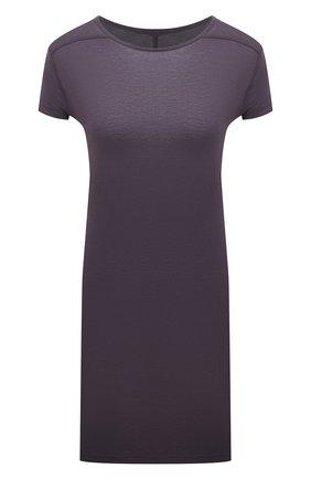 Женская футболка из вискозы RICK OWENS фиолетового цвета, арт. RP21S3203/JS | Фото 1