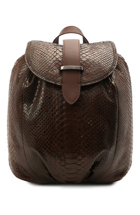 Женский рюкзак из кожи питона BRUNELLO CUCINELLI коричневого цвета, арт. MBCDD2199/PRET | Фото 1