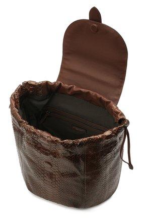 Женский рюкзак из кожи питона BRUNELLO CUCINELLI коричневого цвета, арт. MBCDD2199/PRET   Фото 4