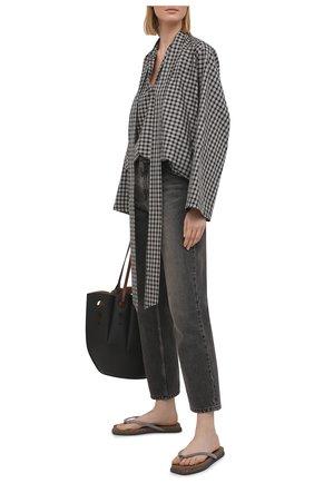Женские кожаные шлепанцы BRUNELLO CUCINELLI коричневого цвета, арт. MZSFG1974 | Фото 2