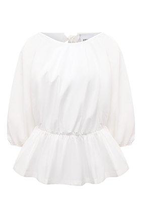 Женская хлопковая блузка ERIKA CAVALLINI белого цвета, арт. S1/P/P1SJ02 | Фото 1