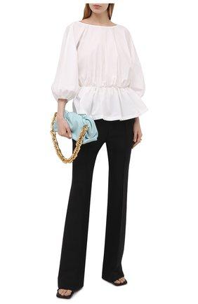 Женская хлопковая блузка ERIKA CAVALLINI белого цвета, арт. S1/P/P1SJ02 | Фото 2