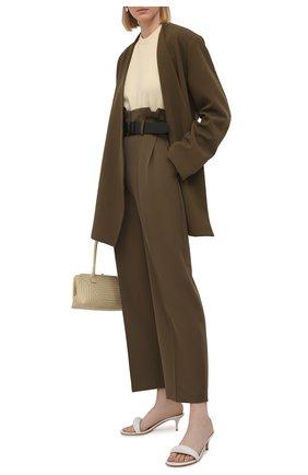 Женские кожаные мюли bijoux 55 GIANVITO ROSSI белого цвета, арт. G18380.55RIC.NAPBIAN | Фото 2