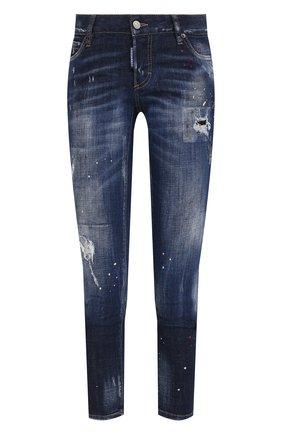 Женские джинсы DSQUARED2 темно-синего цвета, арт. S75LB0466/S30342 | Фото 1