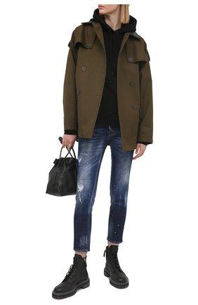 Женские джинсы DSQUARED2 темно-синего цвета, арт. S75LB0466/S30342 | Фото 2