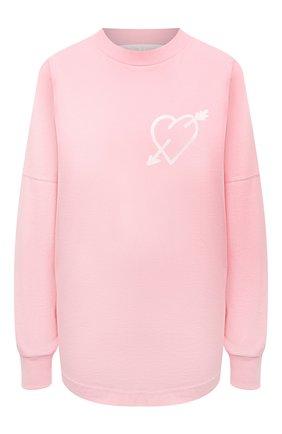 Женский хлопковый свитшот PALM ANGELS розового цвета, арт. PWAB012S21JER0023401   Фото 1