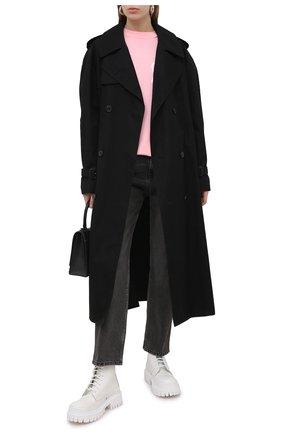 Женский хлопковый свитшот PALM ANGELS розового цвета, арт. PWAB012S21JER0023401   Фото 2