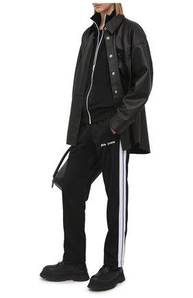 Женские брюки PALM ANGELS черного цвета, арт. PWCA035S21FAB0011001   Фото 2