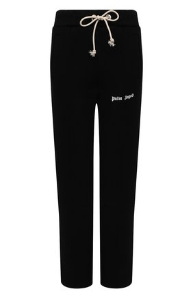 Женские хлопковые брюки PALM ANGELS черного цвета, арт. PWCA045S21FLE0021001   Фото 1