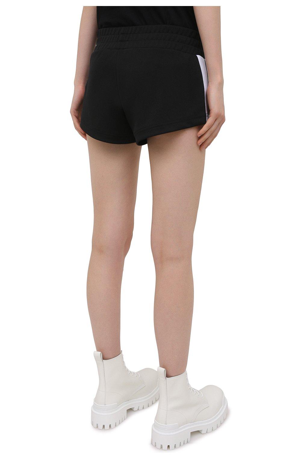 Женские шорты PALM ANGELS черного цвета, арт. PWCB003S21FAB0011001 | Фото 4