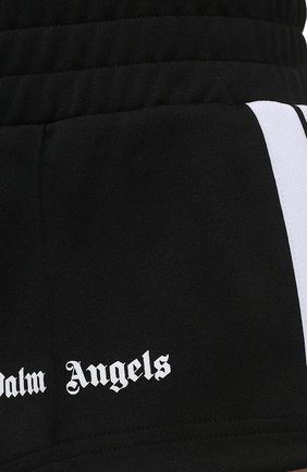 Женские шорты PALM ANGELS черного цвета, арт. PWCB003S21FAB0011001 | Фото 5