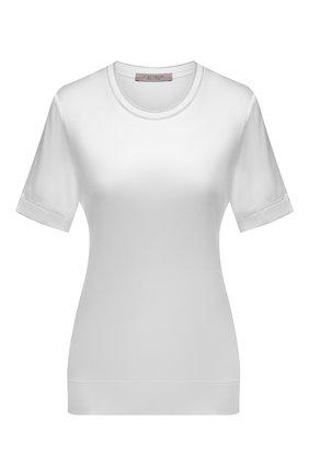 Женский топ из вискозы D.EXTERIOR белого цвета, арт. 52633   Фото 1