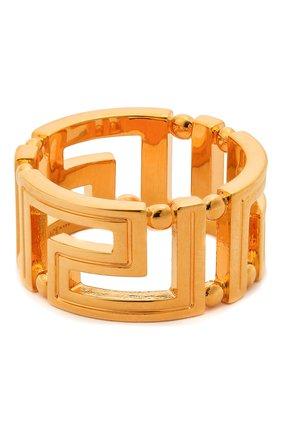 Мужское кольцо greca VERSACE золотого цвета, арт. DG57594/DJMT | Фото 1