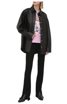 Женская хлопковая футболка VERSACE JEANS COUTURE розового цвета, арт. B2HWA7VA-WDP614 1 H. REILLY/30444 | Фото 2