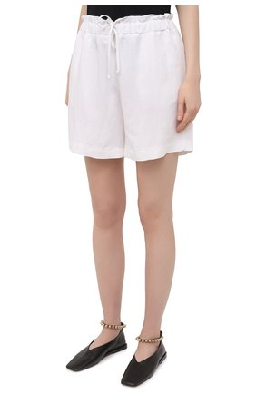 Женские шорты из вискозы и льна PIETRO BRUNELLI белого цвета, арт. PN0194/LI0017   Фото 3