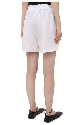 Женские шорты из вискозы и льна PIETRO BRUNELLI белого цвета, арт. PN0194/LI0017   Фото 4