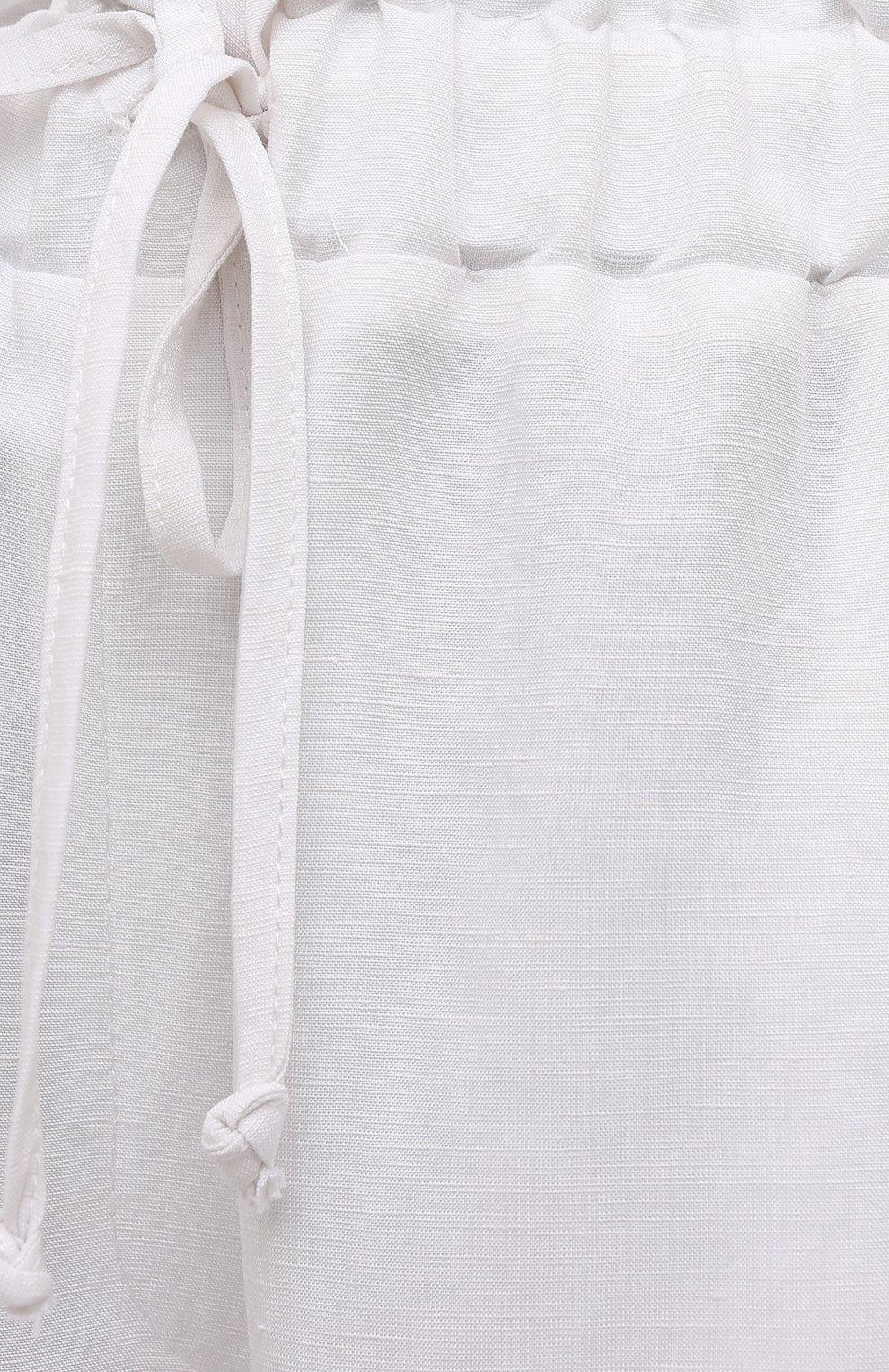 Женские шорты из вискозы и льна PIETRO BRUNELLI белого цвета, арт. PN0194/LI0017   Фото 5