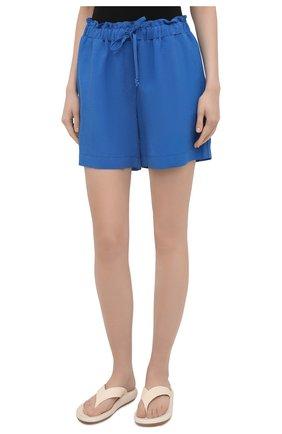 Женские шорты из вискозы и льна PIETRO BRUNELLI синего цвета, арт. PN0194/LI0017   Фото 3
