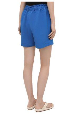 Женские шорты из вискозы и льна PIETRO BRUNELLI синего цвета, арт. PN0194/LI0017   Фото 4