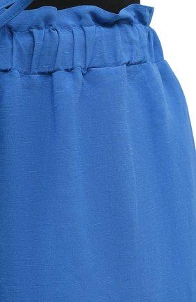 Женские шорты из вискозы и льна PIETRO BRUNELLI синего цвета, арт. PN0194/LI0017   Фото 5