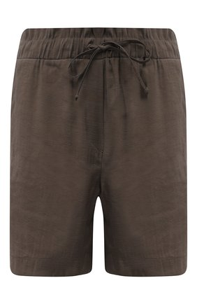 Женские шорты из вискозы PIETRO BRUNELLI хаки цвета, арт. PN0194/VI0078 | Фото 1