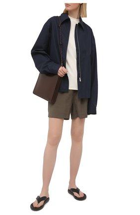 Женские шорты из вискозы PIETRO BRUNELLI хаки цвета, арт. PN0194/VI0078 | Фото 2